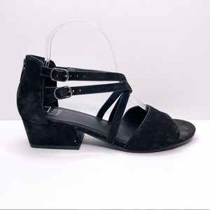 Eileen Fisher Kyra Black Suede Strappy Sandal